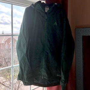 ADIDAS Climaproof windbreaker jacket emerald green